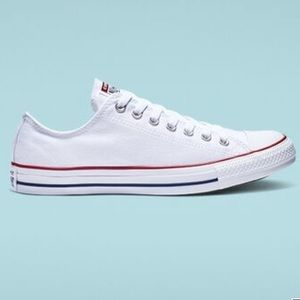 Low top white converse